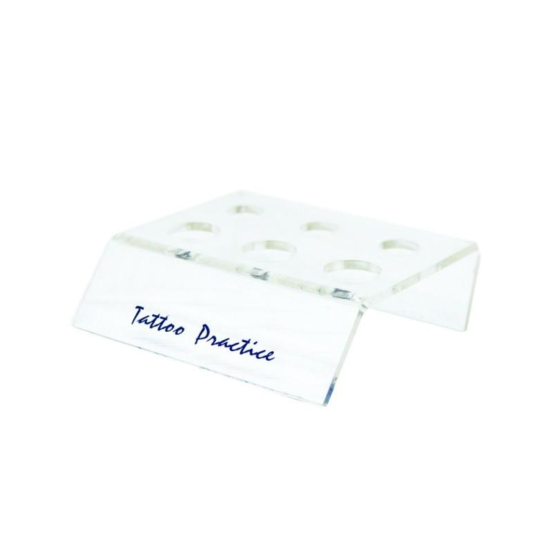 Plastic caps holder 6 holes (transparent)