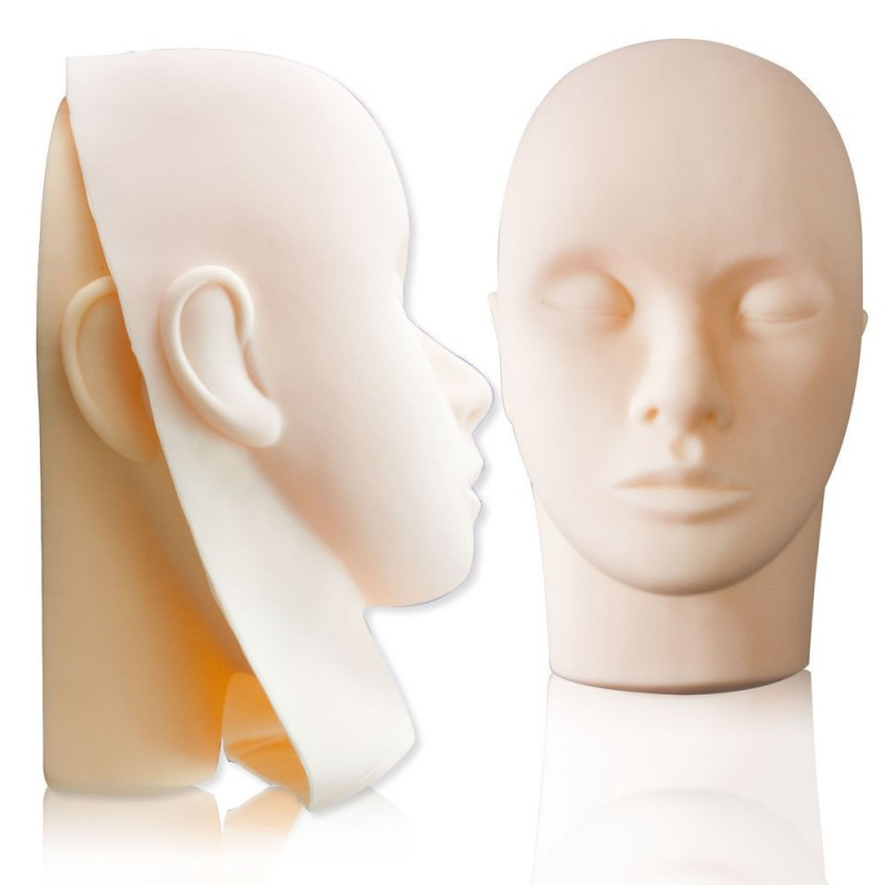 Mannequin Head + 3 Rubber Masks