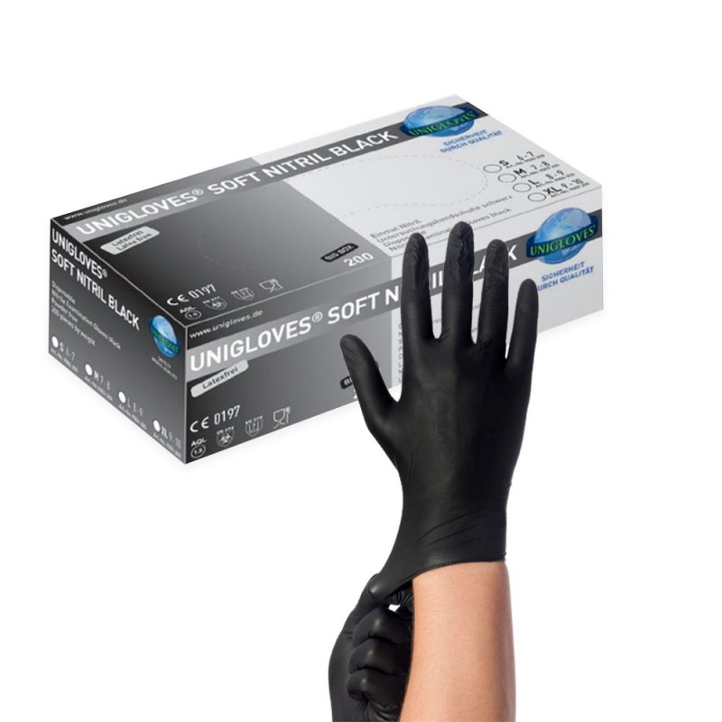 SOFT NITRIL BLACK Nitrile Gloves (S) (200 pcs.)