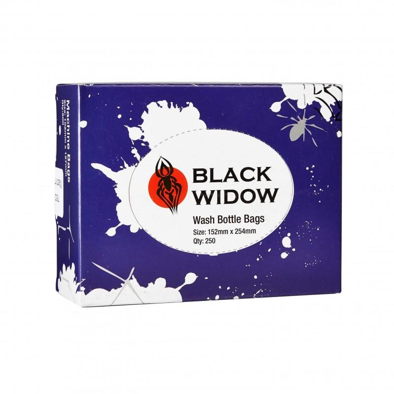 Black Widow Wash Bottle Bags 152x254mm (250 pcs.)