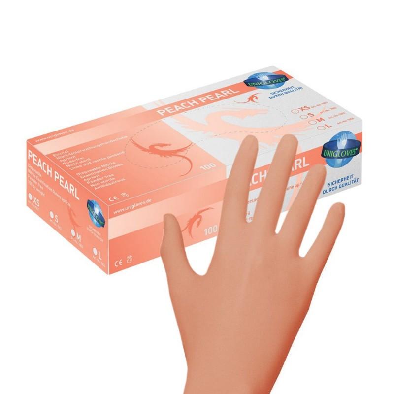 PEACH PEARL Nitrile Gloves (XS - S - M)