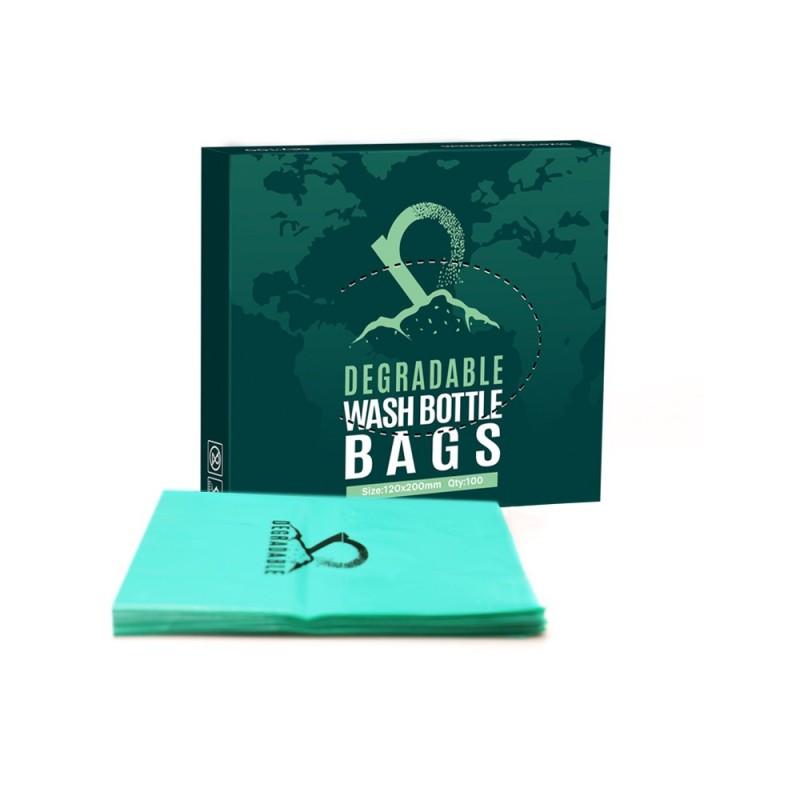 Eco degradable tattoo wash bottle bags 120 x 200mm (100pcs.)