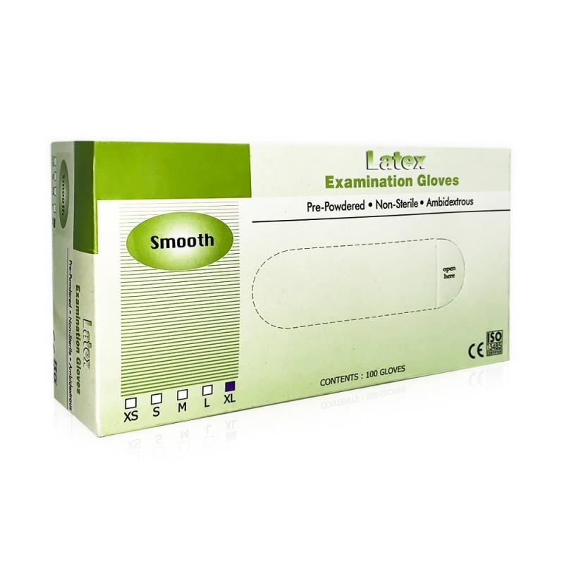 Latex examination gloves (S - XL)