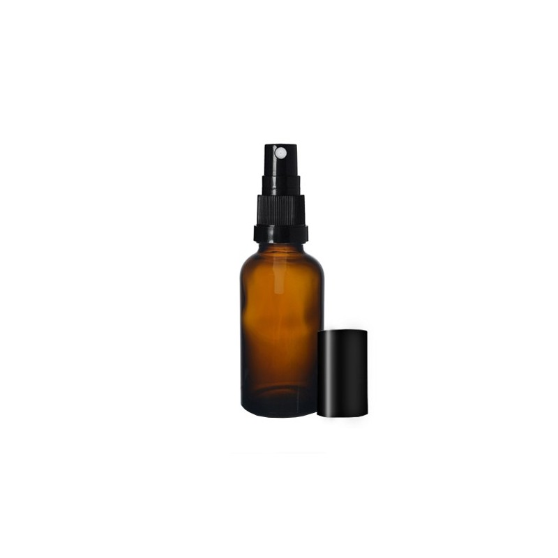 Glass bottle with spray for liquids 50ml (1pc.)