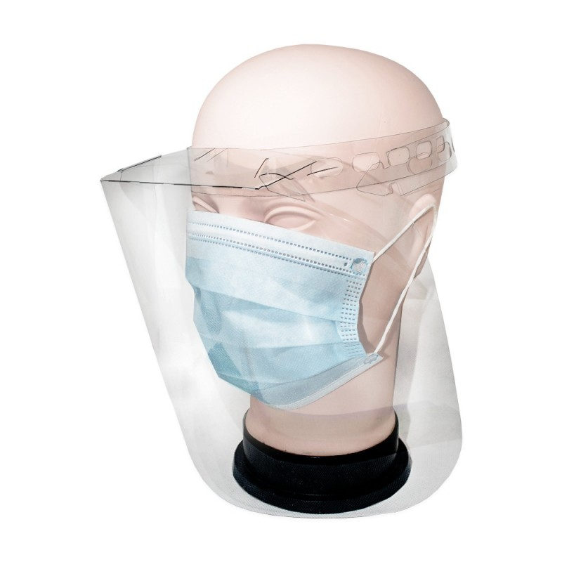 Protective face shield (transparent) 1pc.