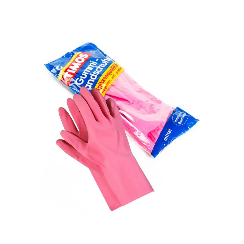 Rubber household gloves, size M
