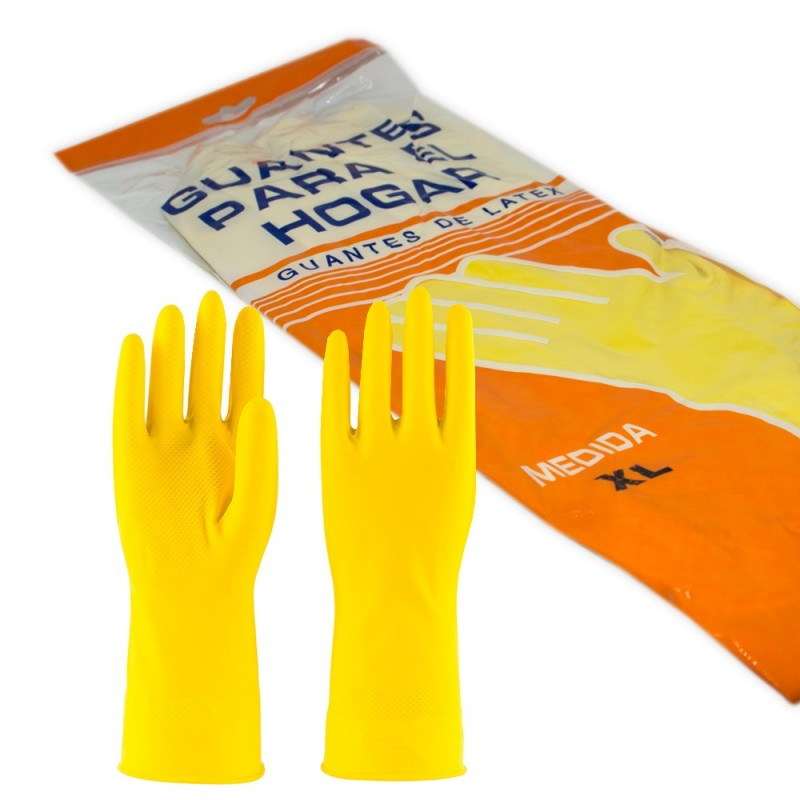 Latex household gloves, size XL