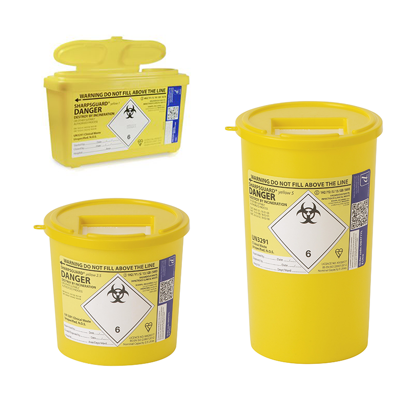 Sharpsguard Universal Clinical Waste Container (1L, 2.5L, -5L)
