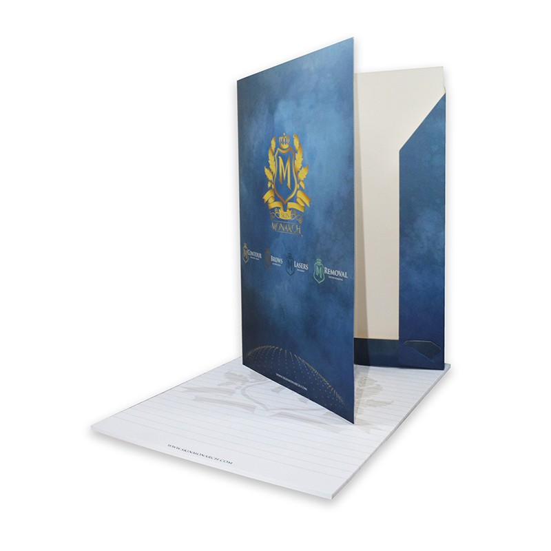 Skin monarch folder with notepad