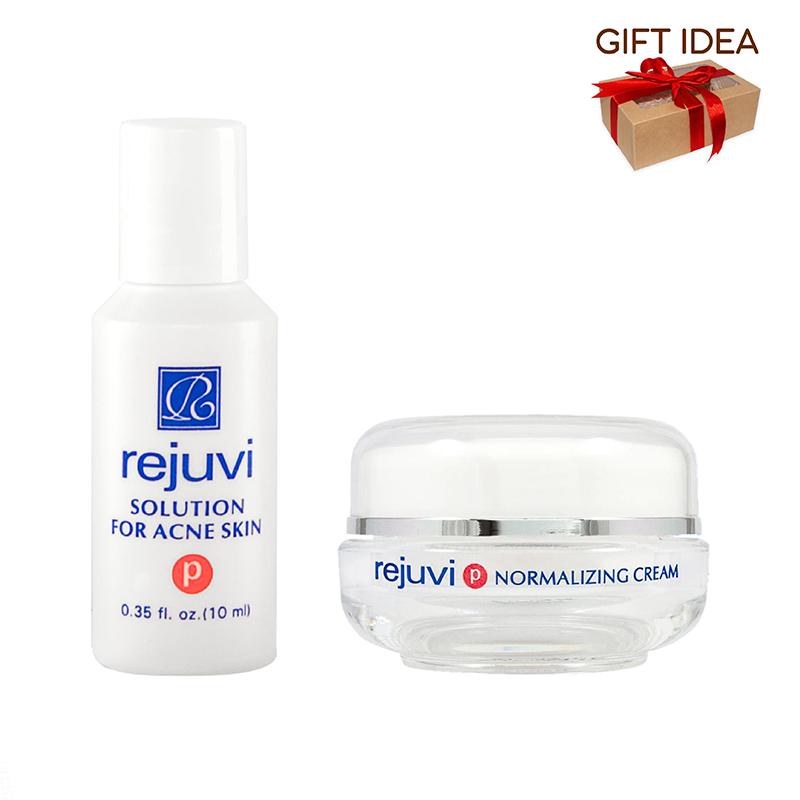 Rejuvi 'P' Solution For Acne Skin + Rejuvi 'P' Normalizing Cream Open Acne