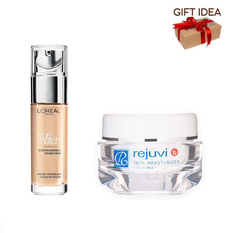Rejuvi B Skin Moisturizer + L'Oreal True Match Super Blendable Foundation