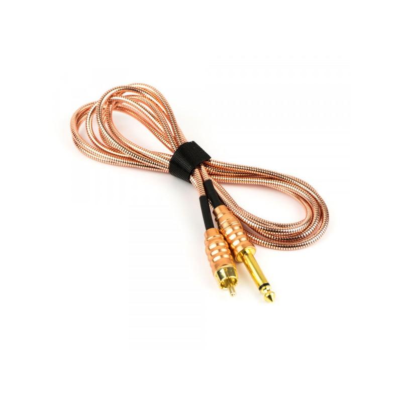 RCA Braided Titan Style Clip Cord 2m (Gold)