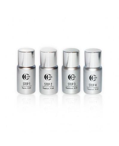 CC Lashes 4 steps system for eyelash lifting
