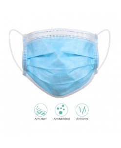 Disposable Face Masks - 3 layers blue (10pcs.)