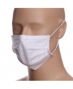 In Stock Disposable Face Masks - 3 layers (10pcs.) white