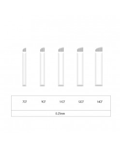 Microblading 7-9-11-12-14 CF needle- 0,25mm (1 pcs.)