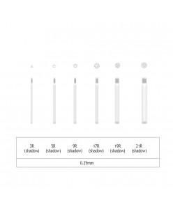 Microblading 3-5-9-17-19-21 R Shadow needle- 0,25mm (1 pcs.)