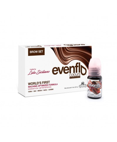Perma Blend Evenflo brow pigments set 15 ml. (5 vnt.)
