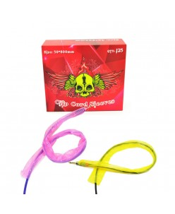 Tattoo clip cord sleeves - Pink / Yellow (50 x 800 mm) 150 pcs.