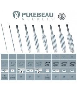 Purebeau Precision T-Needles (1T, 2T, 3T, 5T, 7T, 9T) 1 pcs.