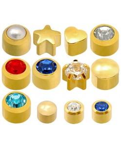 Caflon® sterile gold plated earrings kit (12 pairs)