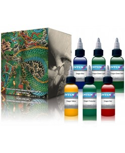 Intenze Japaneze Dragon Color Kit 30 ml. 6 piece