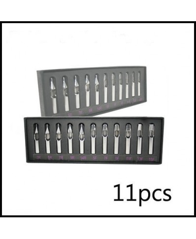 11 Pcs Double arc Tattoo Stainless Steel Tips